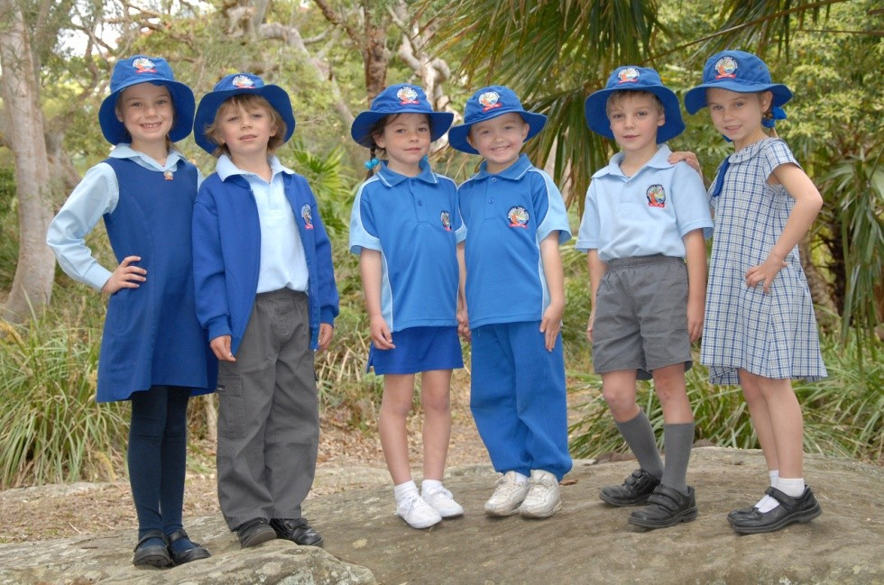 Bundeena students in winter, sports and summer uniforms.